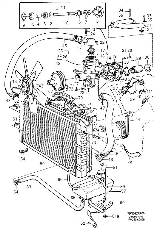 2021 Volvo Gasket. B27, B28. Cooling System. B28E. Engine