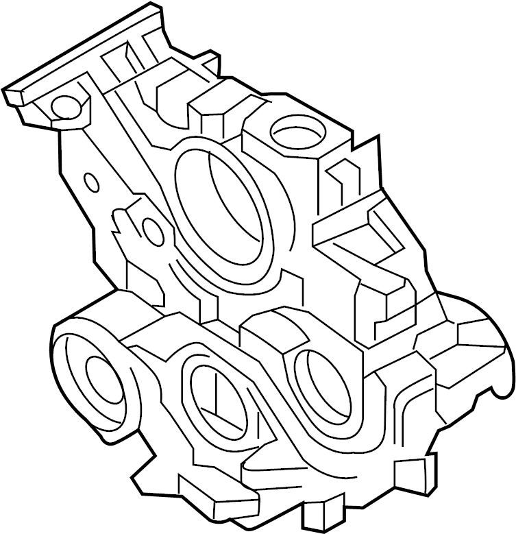Nissan Titan Engine Timing Cover (Front). BLOCK, PUMP