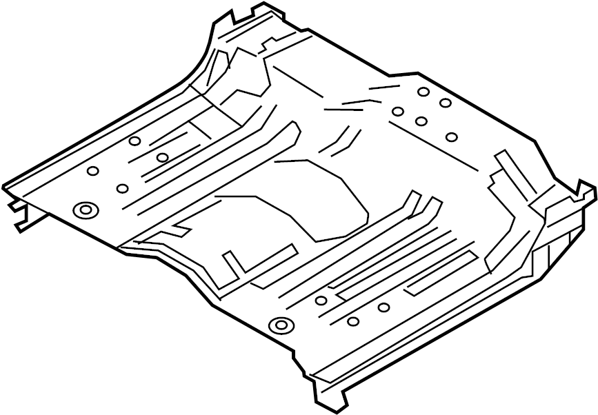 Nissan Titan Floor Pan (Rear). Trim, PANEL, Interior, Body
