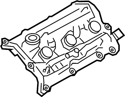 Nissan 370Z Engine Valve Cover. COMPONENT, ASSEMBLY