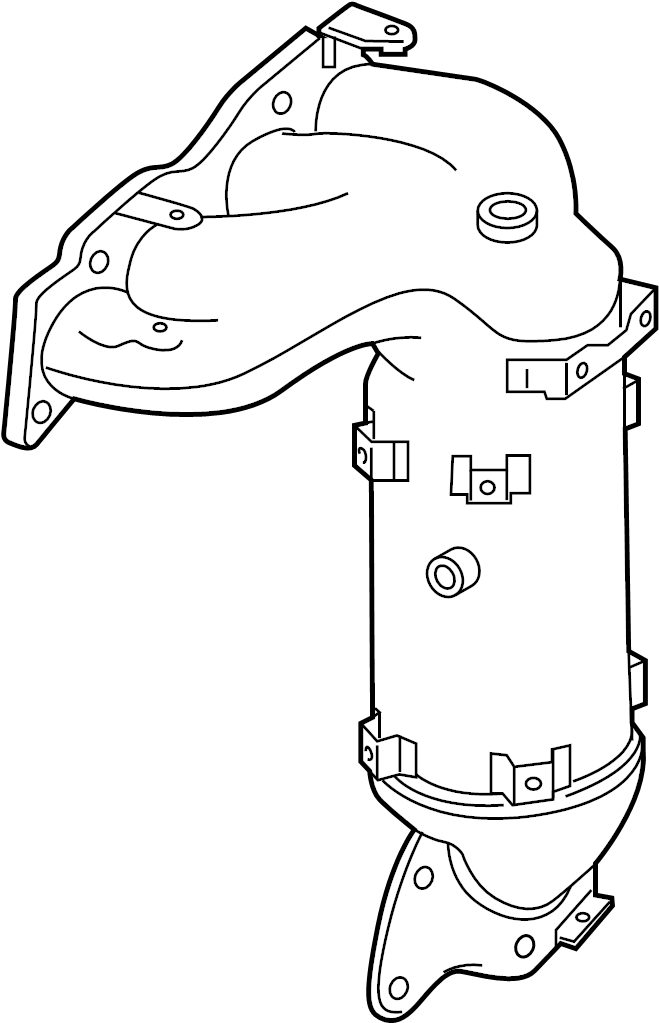 Nissan Murano Catalytic Converter With Integrated Exhaust