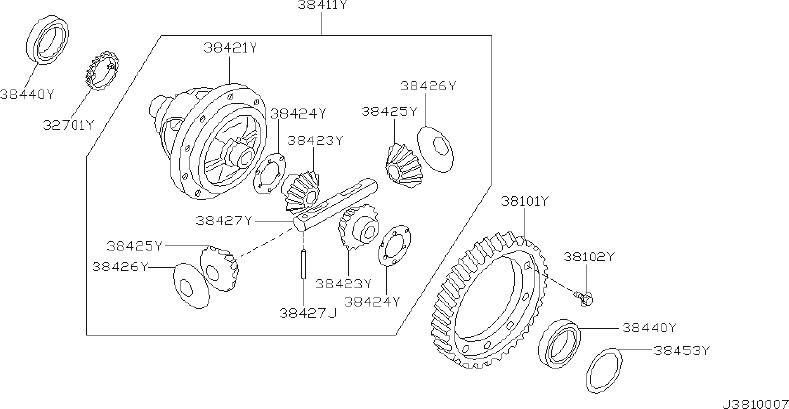 Nissan Maxima Manual Transmission Differential Bearing