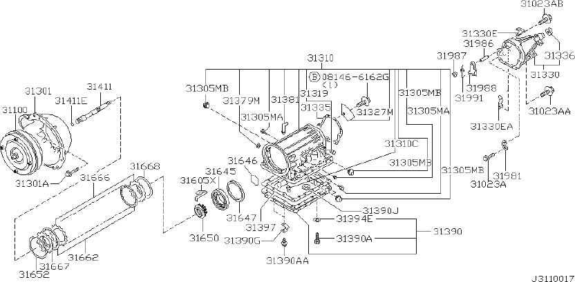 Nissan Frontier Automatic Transmission Extension Housing