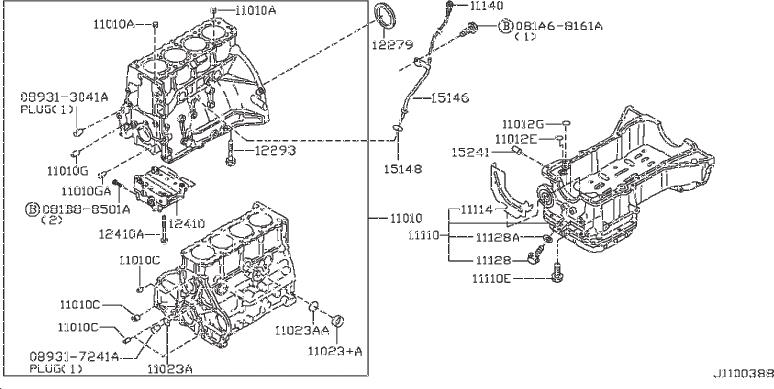 Nissan Frontier Gasket Cylinder Block. ASSEMBLY, COMPONENT