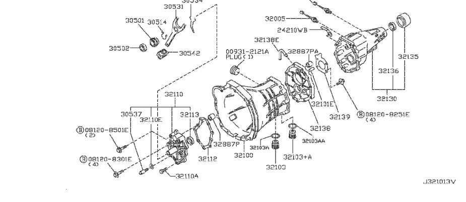 Nissan 300ZX Manual Transmission Extension Housing Seal