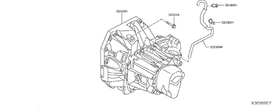 Nissan Versa Note Bolt. TRANSMISSION, MANUAL, ASSEMBLY