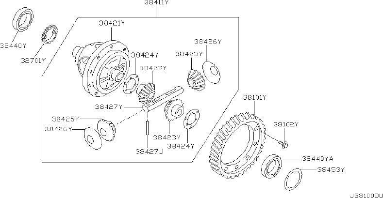 Nissan Altima Manual Transmission Differential Bearing