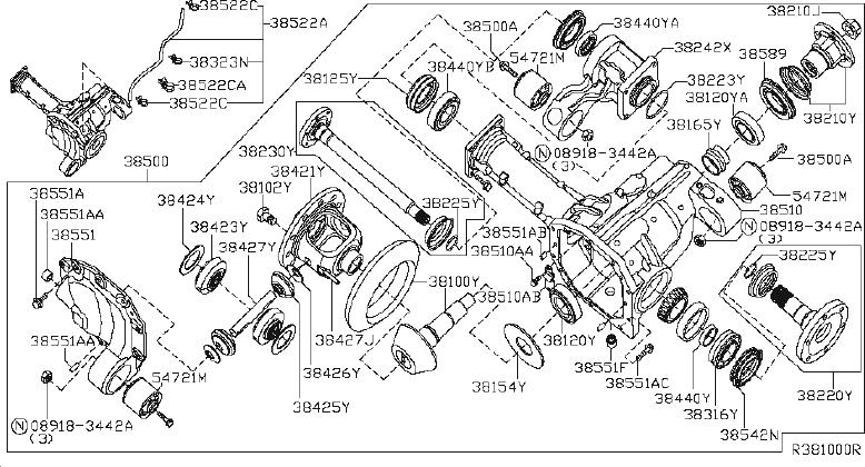 Nissan Pathfinder Drive Axle Shaft. PACKAGE, OFF, ROAD