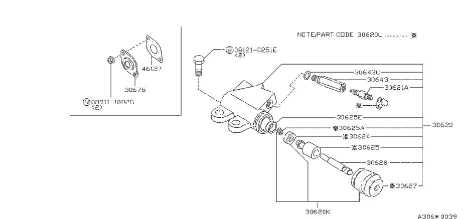 Nissan Maxima Clutch Slave Cylinder Repair Kit. NABCO, AUG