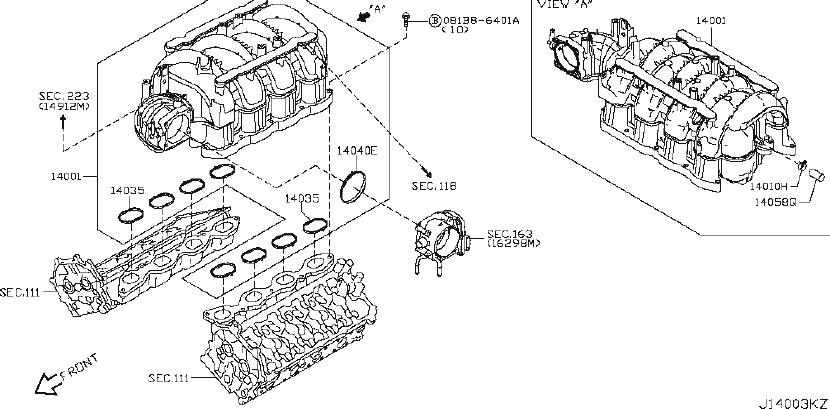 Nissan Armada Fuel Injection Throttle Body Mounting Gasket
