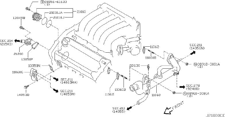 Nissan Murano Engine Coolant Thermostat Kit. Cooling