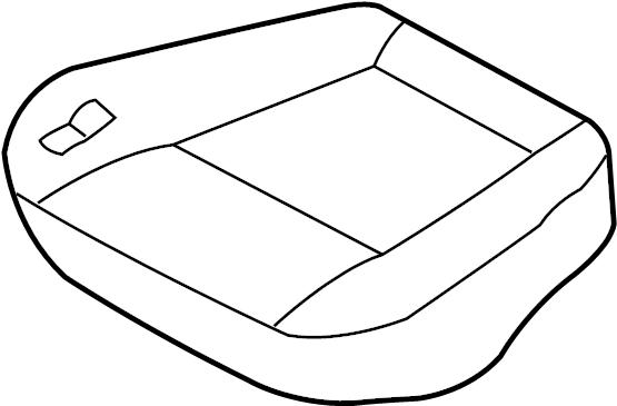 Nissan Pathfinder Seat Cushion Foam (Front). MANUAL, BAG