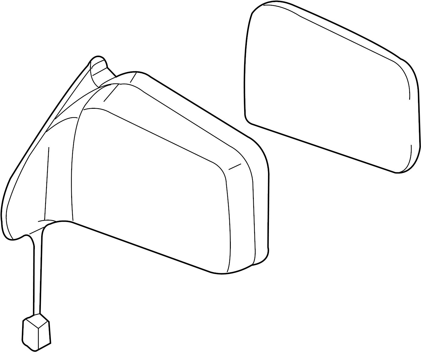 Nissan Xterra Door Mirror (Right). MANUAL, FOLDING, BODY
