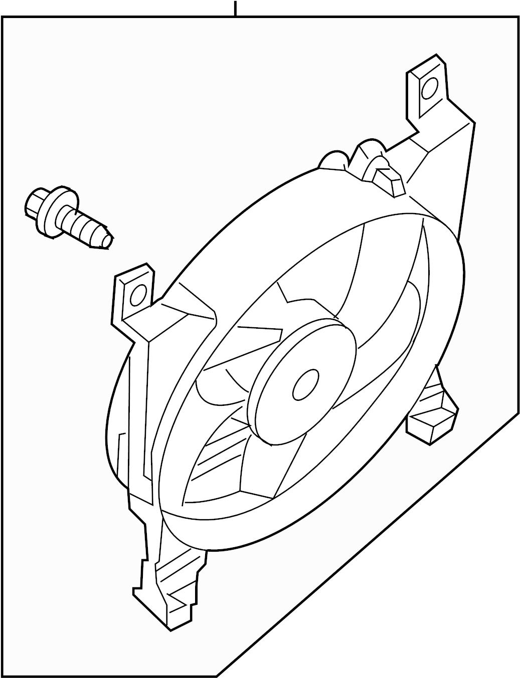 Nissan Armada A C Condenser Fan Shroud Radiator Fitting