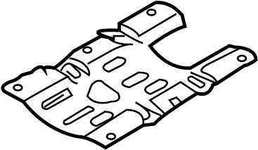 Nissan Xterra Service File Plate Baffle, Oil Pan. BLOCK