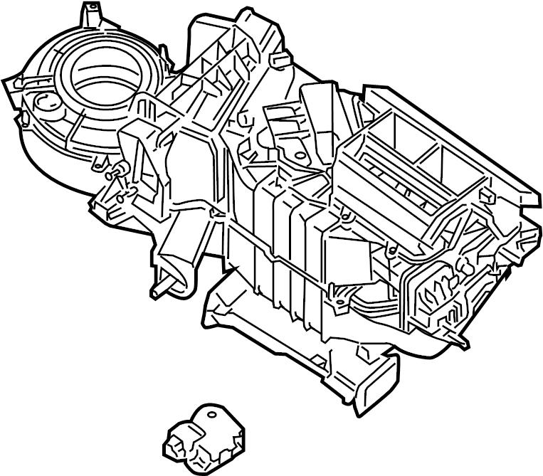 Nissan Frontier Hvac unit case (lower). Heater, auto, air