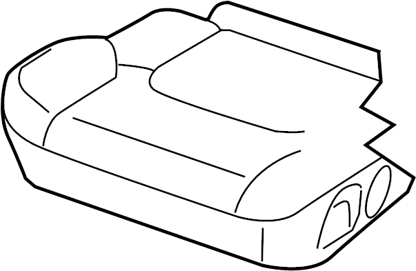 Nissan Frontier Seat Cover (Front). MANUAL, FOLD, FLAT