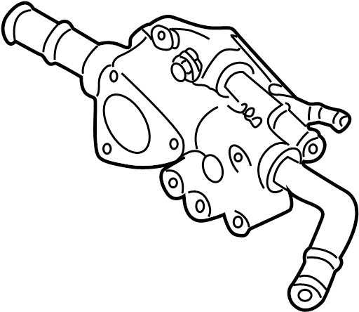 Nissan Sentra Engine Coolant Thermostat Housing. WATER