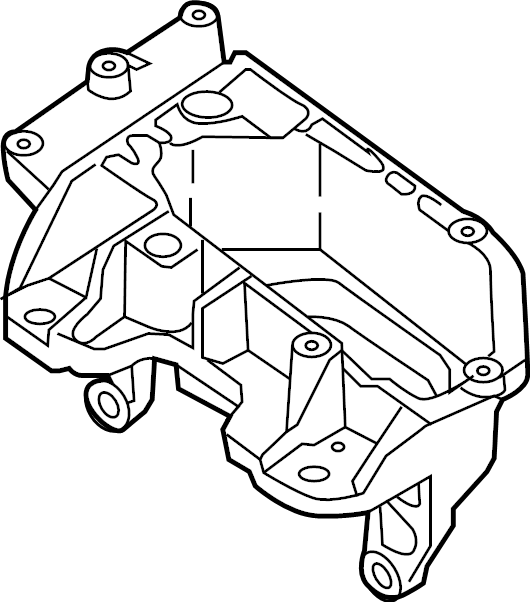 Nissan Juke Bracket Engine. Support Engine Mounting. (Left