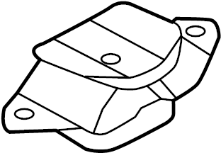 Nissan Versa Automatic Transmission Mount (Left). ENGINE