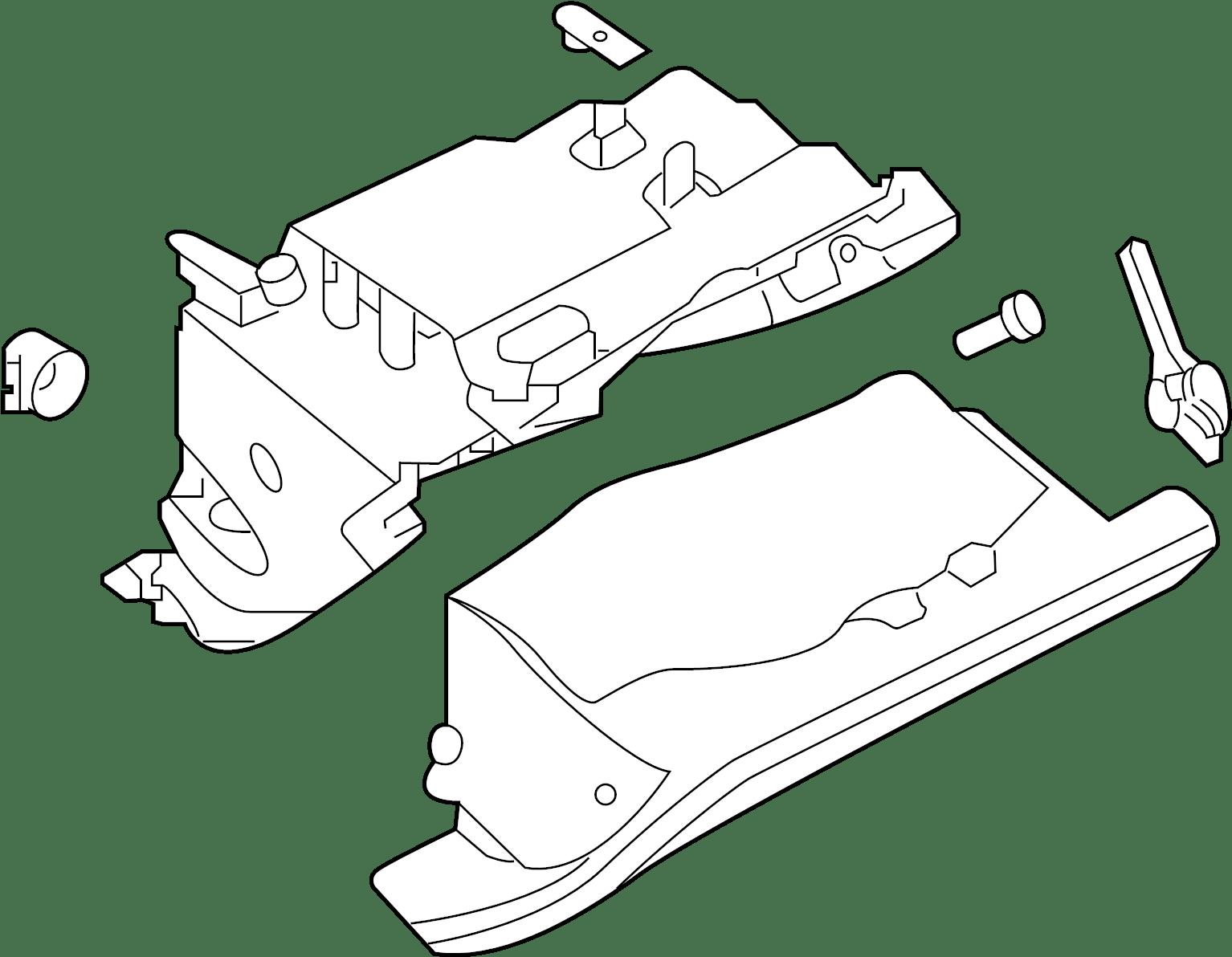 Nissan Sentra Box Glove Brown Lid Trim