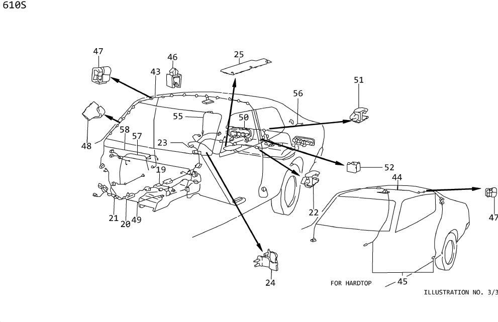 Datsun 280Z Cable Battery, (). Clamp Hose, B. Clip