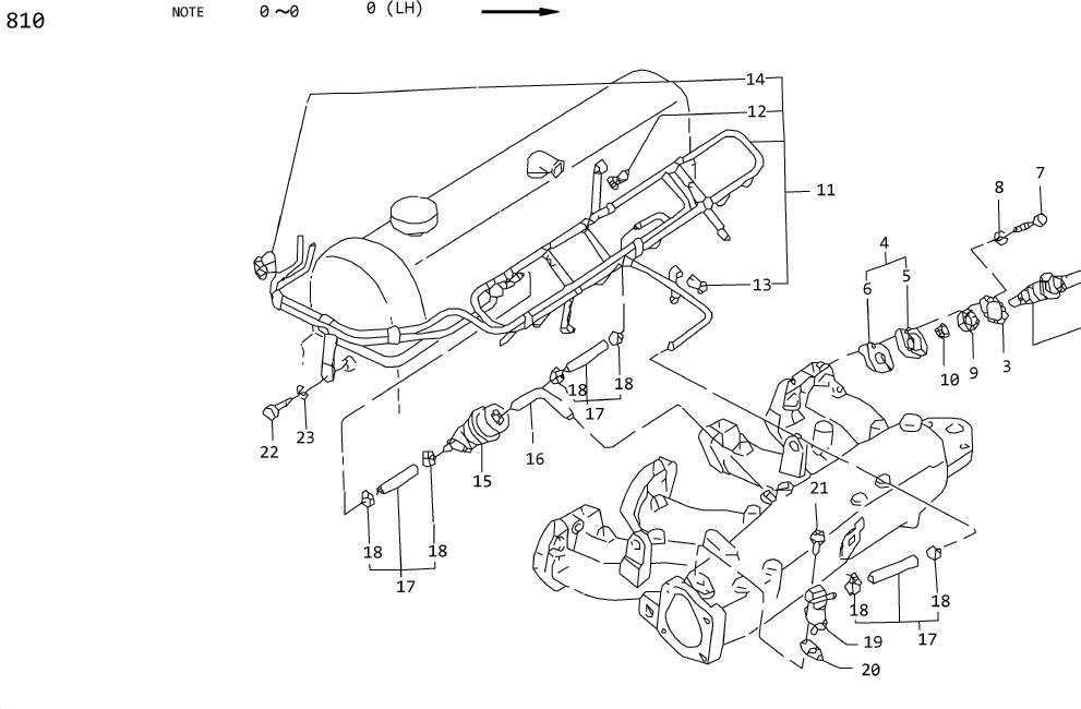 Nissan Stanza Insulator Heat INJEC TOR Holder. Packing