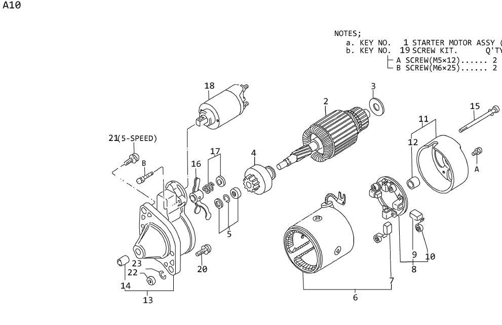Datsun A10 Brush Plus. Yoke. MITSUBISHI, GAS, MOTOR