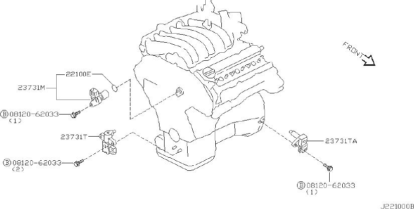 Nissan Maxima Engine Crankshaft Position Sensor