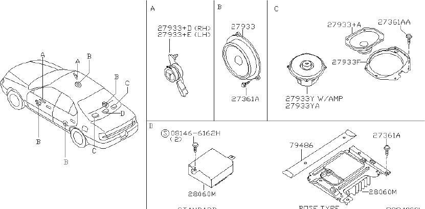 Nissan Maxima Speaker Set Steering. Speaker Set Stereo