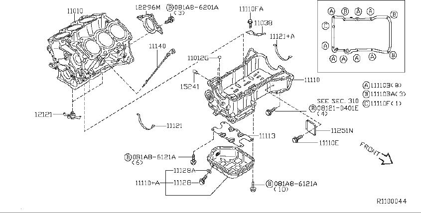 Nissan Maxima Engine Crankshaft Seal (Rear). ASSEMBLY
