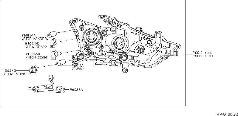 Nissan An Headlight Harness Diagram / 2000 Nissan Silvia