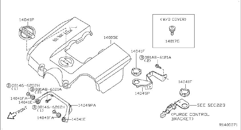 Nissan Titan Engine Intake Manifold Gasket. EXHAUST, COVER