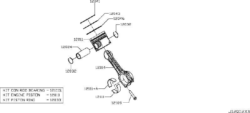 Nissan Titan Engine Crankshaft Pulley Bolt. PISTON