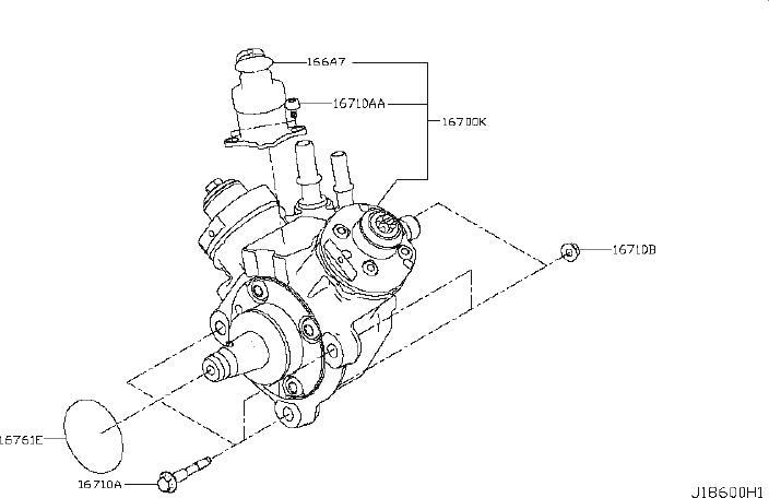 Nissan Titan Diesel Fuel Injector Pump. System, INJECTION