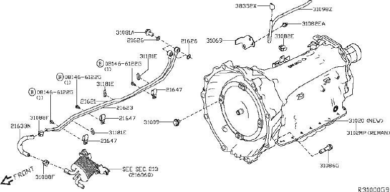 Nissan Titan Automatic Transmission. MWB, FITTING, ASSY