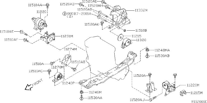 Nissan Sentra Stopper Rubber, Engine Mounting