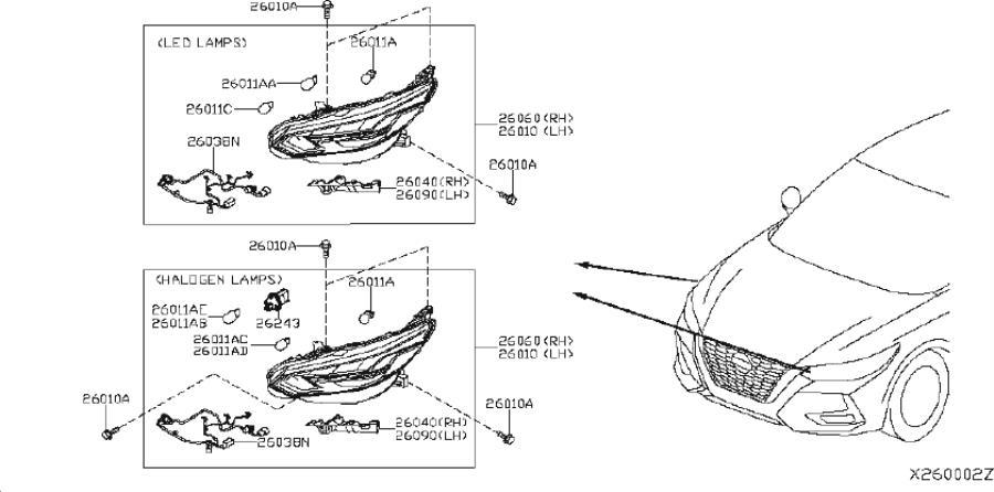 Nissan Sentra Turn Signal / Parking Light Bulb. PREM
