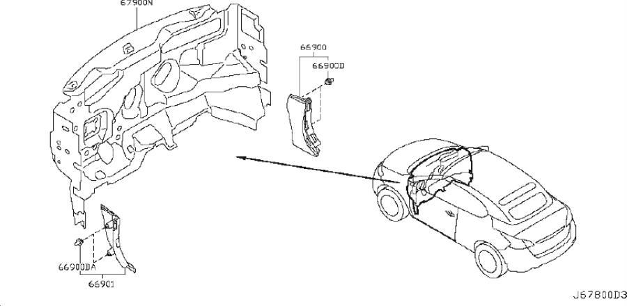 Nissan Murano Engine Compartment Insulation (Lower