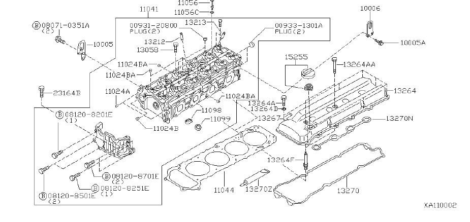 Nissan Frontier Engine Valve Seat. RIKEN, ASSEMBLY, SELECT