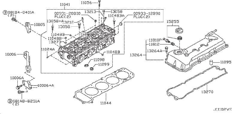Nissan Frontier Tube Spark Plug. ASSEMBLY, HEAD, ROCKER