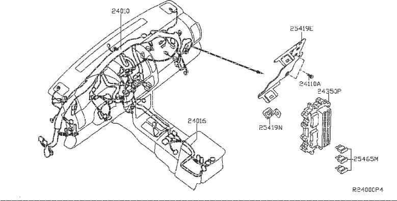 Nissan Titan Controller Unit IPDM Engine Room. Service