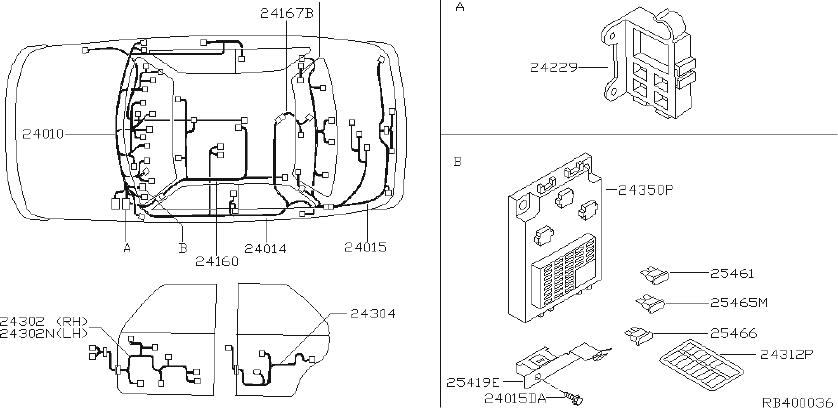 2007 Nissan Altima Engine Wiring Harness