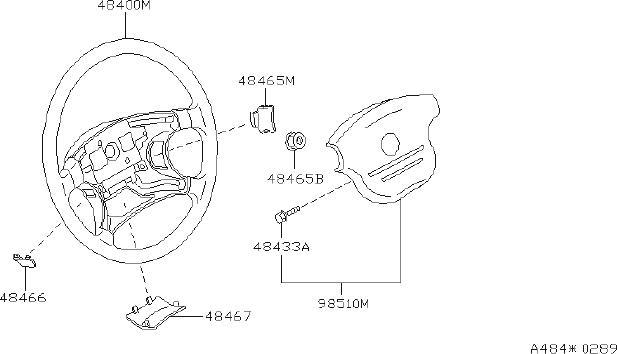 Nissan Altima Steering Wheel Trim (Left). Suspension