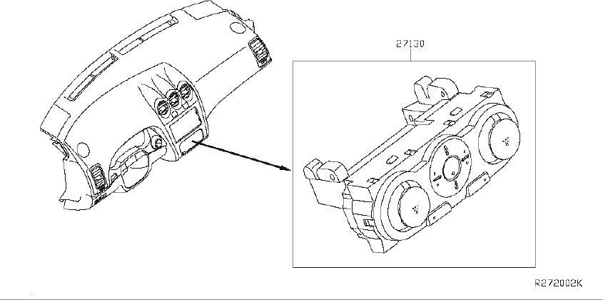 Nissan Altima Hvac Temperature Control Panel. UNIT, MANUAL