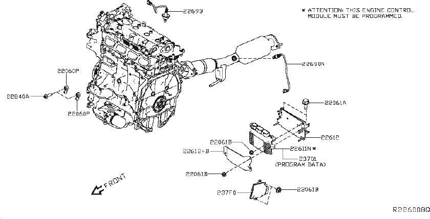 Nissan Altima Oxygen Sensor (Rear). MODULE, CONTROL