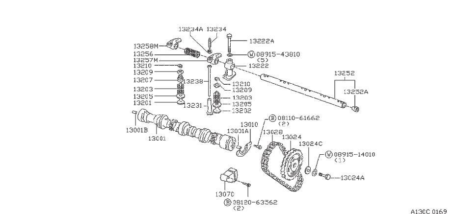 Nissan Pulsar NX Nut Adjusting Rocker Valve. Nut Lock