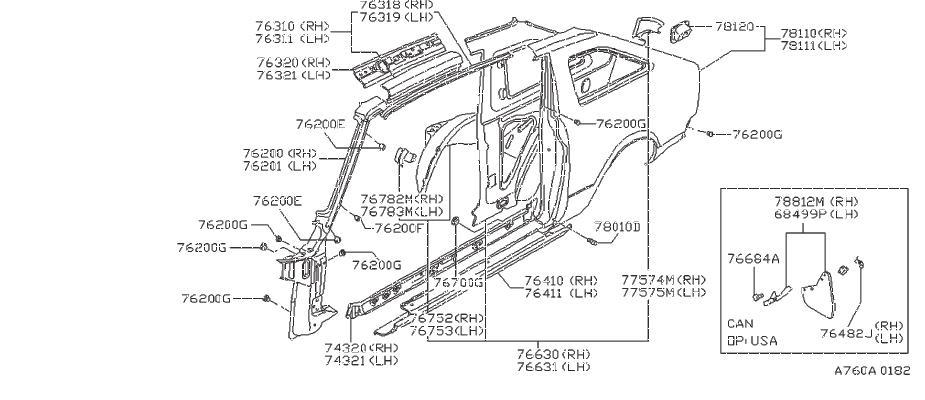 Nissan Pulsar NX Clip Center Finish. Grommet. Plug LOCATE