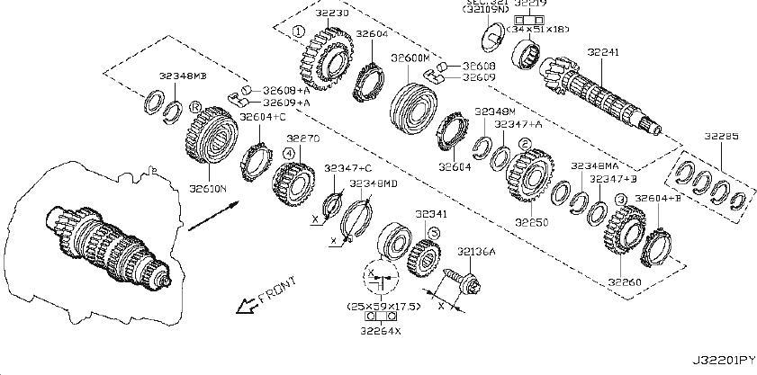 Nissan Versa Manual Transmission Input Shaft Bearing. MAIN