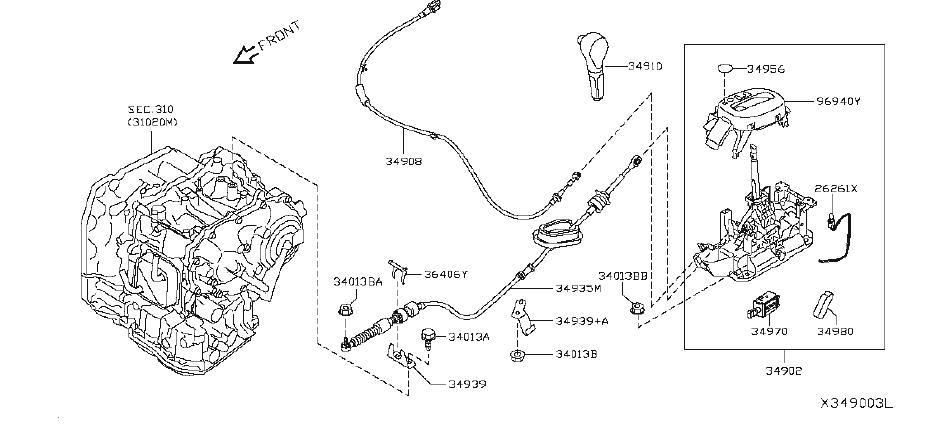 Nissan Versa Automatic Transmission Shift Lever Knob